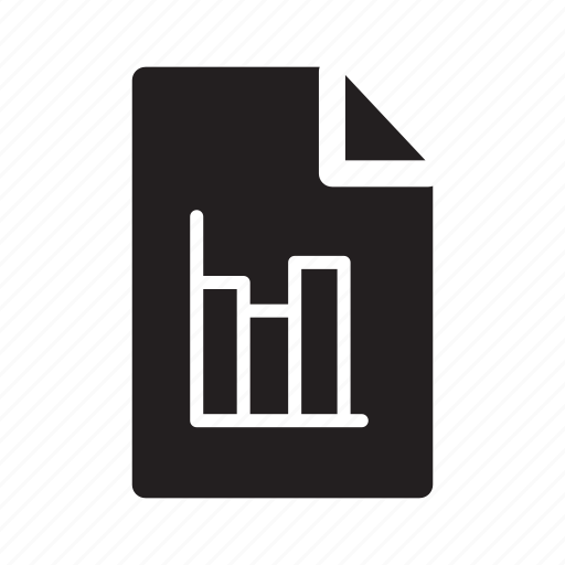 bars, chart, document, files, graph icon