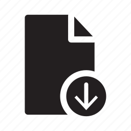 arrow, document, down, files, move icon