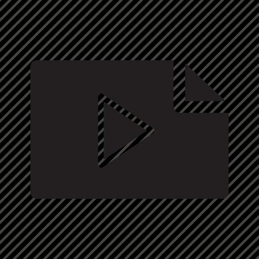 files, movie, multimedia, music, play icon