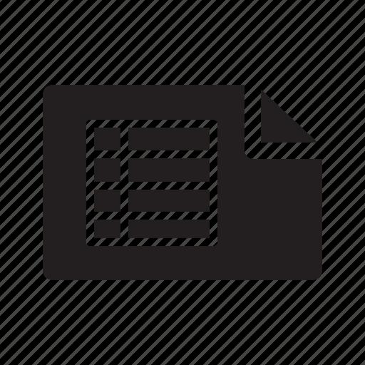 checklist, excel, files, table, tables icon