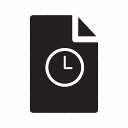 clock, document, files, limited, time icon
