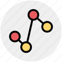 connect, diagram, graph, line graph, status icon
