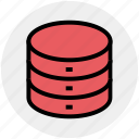 data storage, hard data storage, network, safe, server, storage icon
