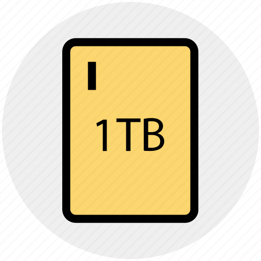 1tb, 1tb hard, drive, external hard, extra hard disk, hard disk, hdd icon