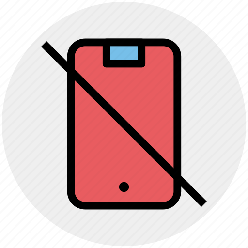 Device, mobile, no, not allowed, prohibited icon - Download on Iconfinder