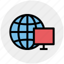 browser, earth, globe, lcd, lcd screen, screen, world icon