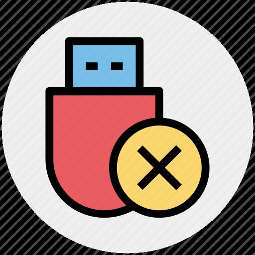 data saver flash, data stick, delete, disk device, flash, flash drive, usb icon