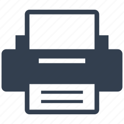 hardware, page, peripheral, print, printer icon