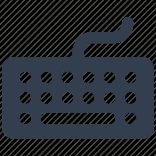 hardware, keyboard, peripheral, silhouette icon