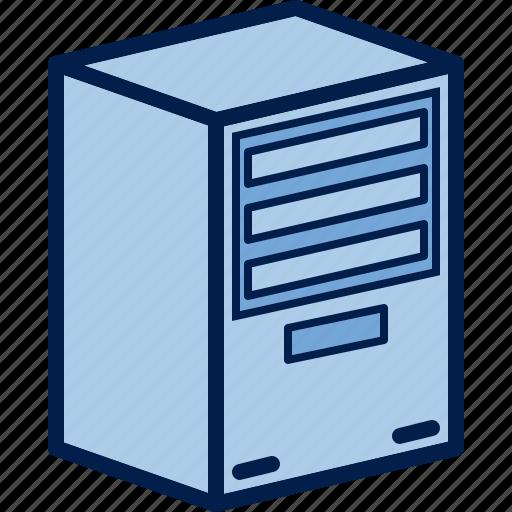 block, computer, hardware, pc, system, unit, workstation icon