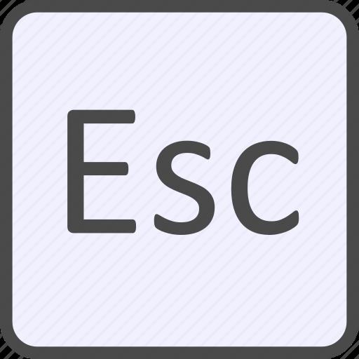 esc, escape, keyboard icon