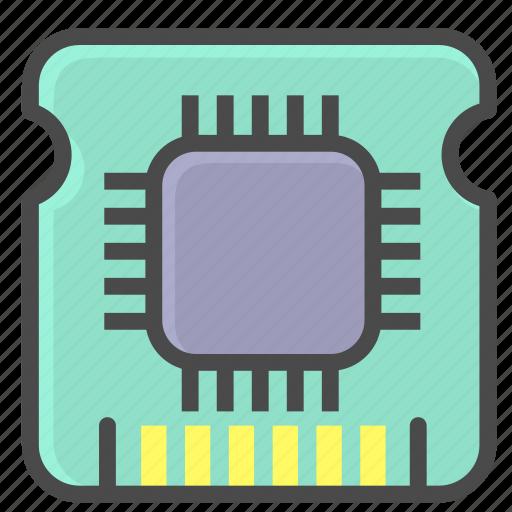 chip, cpu, microchip icon