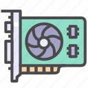computer, display card, hardware icon