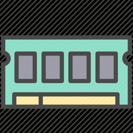 chip, memory, memory card icon
