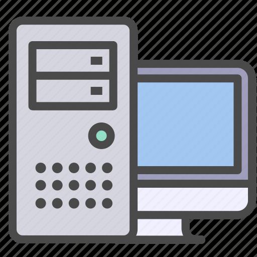 computer, desktop computer, pc icon