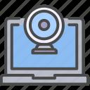 camera, computer, laptop icon