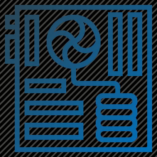 hardware, mainboard, microchip, motherboard icon