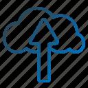 cloud, cloudupload, fileupload, network, storageupload, upload icon