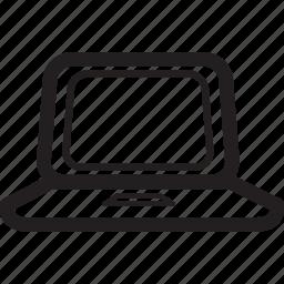 computer, connect, hardware, laptop, work, write icon