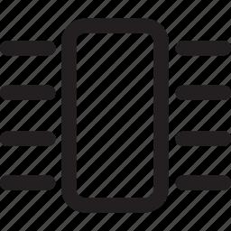 chip, computer, hardware, memory icon