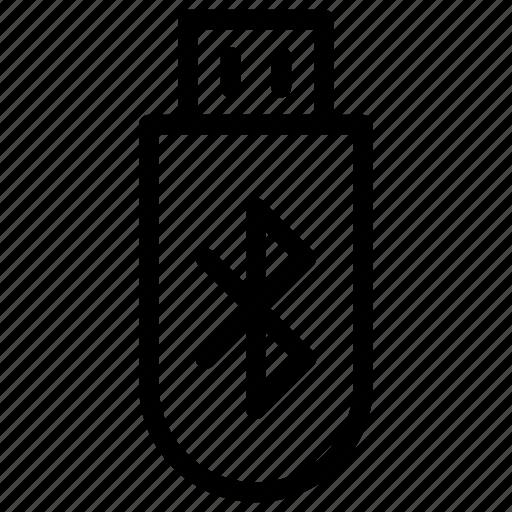 bluetooth, drive, flash, storage, technology icon
