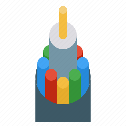 Cable, fiber, internet, network, optic, technology icon - Download on Iconfinder