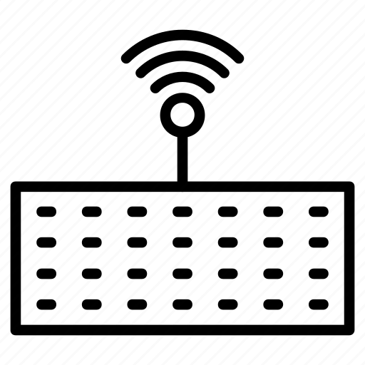 computer, connection, keyboard, signal, wireless icon