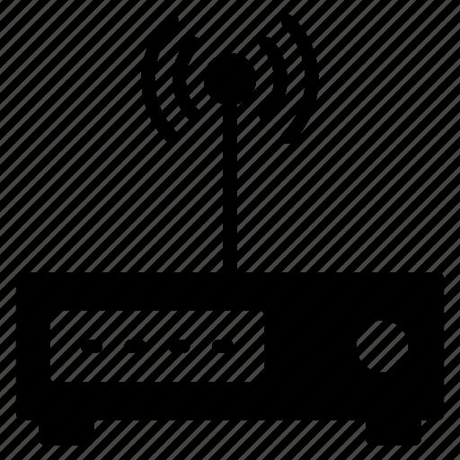 antenna, hardware, modem, router, signal icon