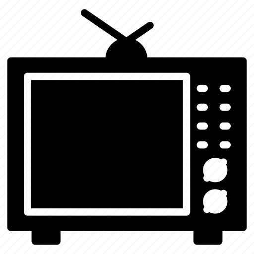 antenna, device, entertainment, screen, television icon