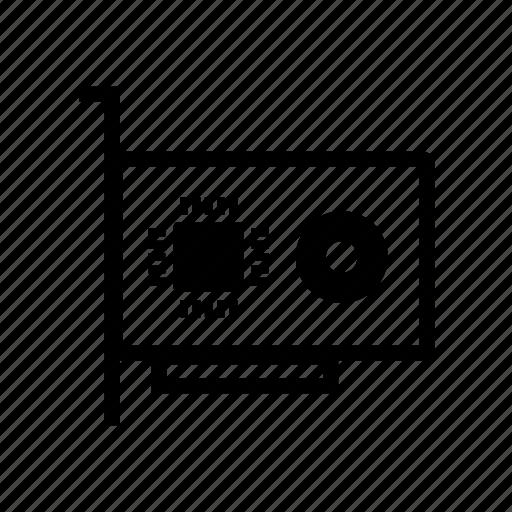 agp, display, gpu, graphics, graphics card, pci icon