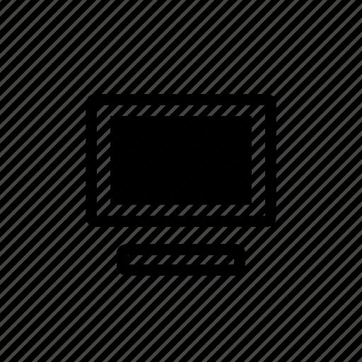 computer, display, graphics, monitor, tv icon