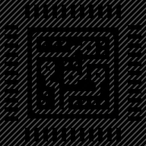 chip, computer, cpu, processor icon