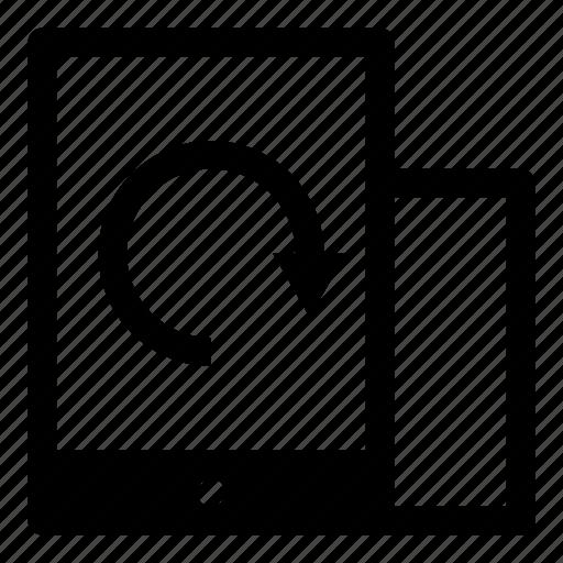 change, landscape, orientation, portrait, rotate, rotation, tablet icon