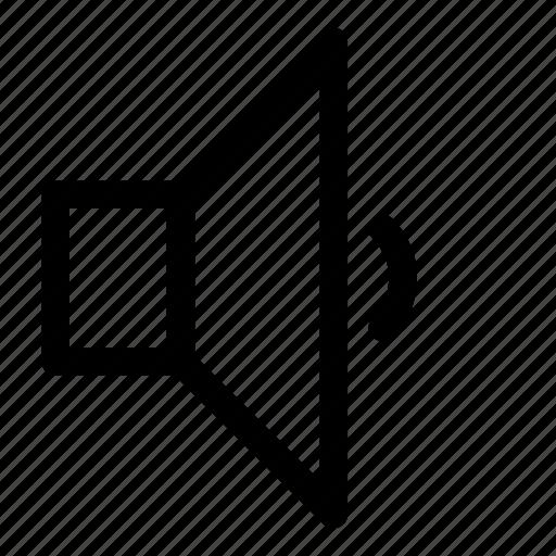 audio, controll, down, level, small, sound, volume icon