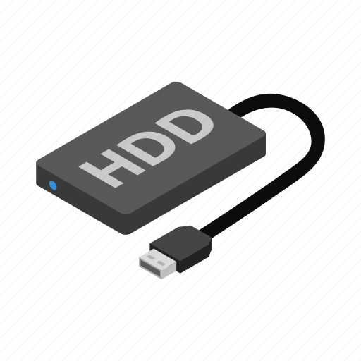 Background, disk, drive, hard, hdd, isolated, isometric icon - Download on Iconfinder