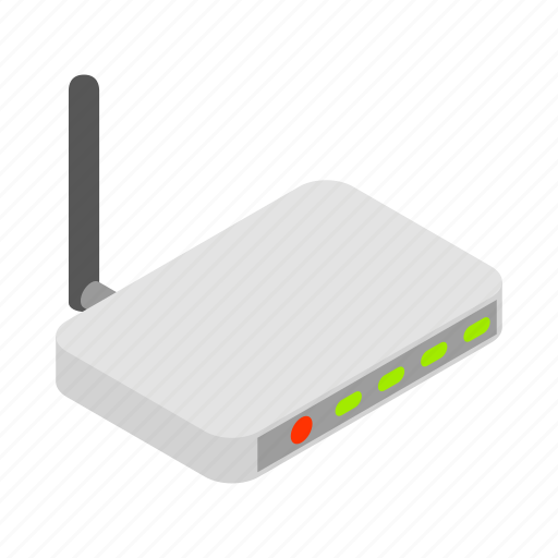 background, internet, isolated, isometric, network, router, technology icon
