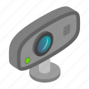 background, camera, digital, isolated, isometric, video, web icon