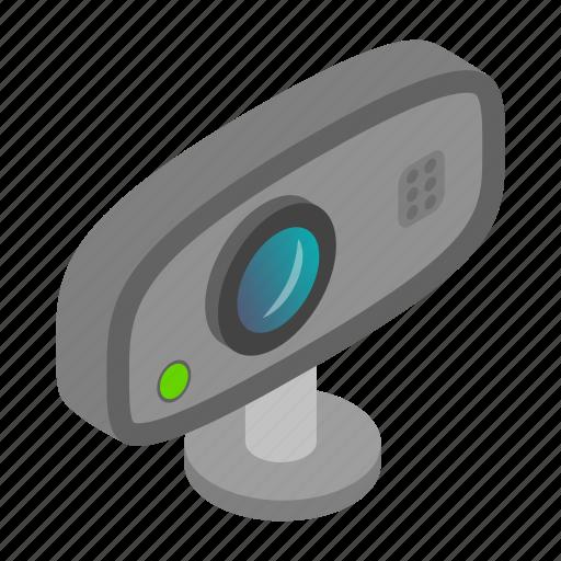 background, camera, digital, isolated, isometric, video, web icon