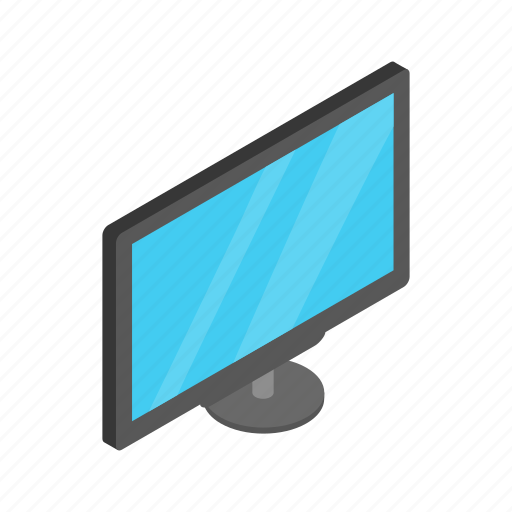 background, digital, display, isolated, isometric, monitor, technology icon