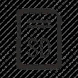 card, sd icon