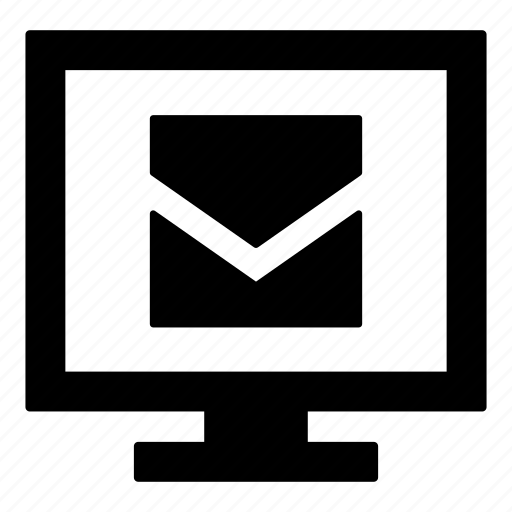 check mail, computer monitor, computer screen, display, email, mail, monitor icon