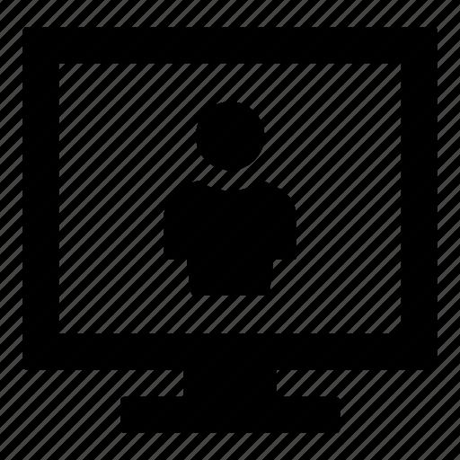 computer monitor, computer screen, monitor, online profile, profile, screen, user icon
