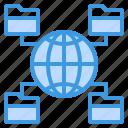 communication, computer, file, internet, network, server, sharing icon