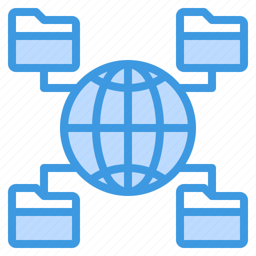 communication, computer, file, internet, network, server, sharing icon