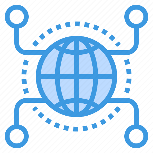 communication, computer, global, internet, network, server icon