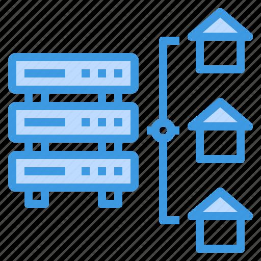 communication, computer, home, internet, network, server icon