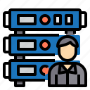 administrator, communication, computer, internet, network, server icon