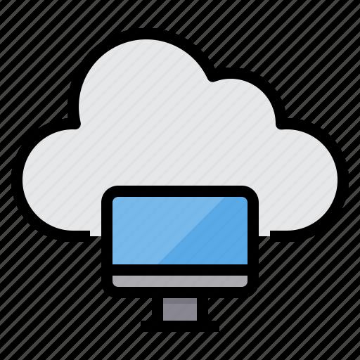 cloud, communication, computer, computing, internet, network, server icon