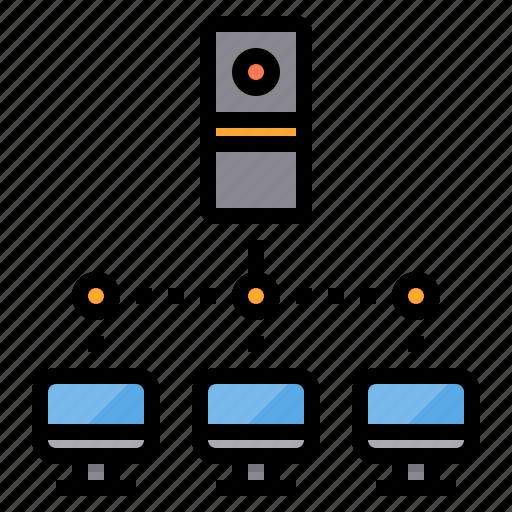 communication, computer, internet, intranet, network, server icon
