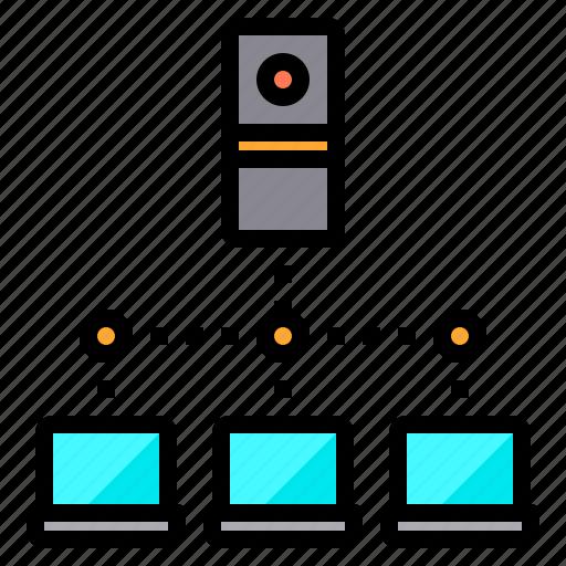 Communication, computer, internet, laptop, network, server icon - Download on Iconfinder